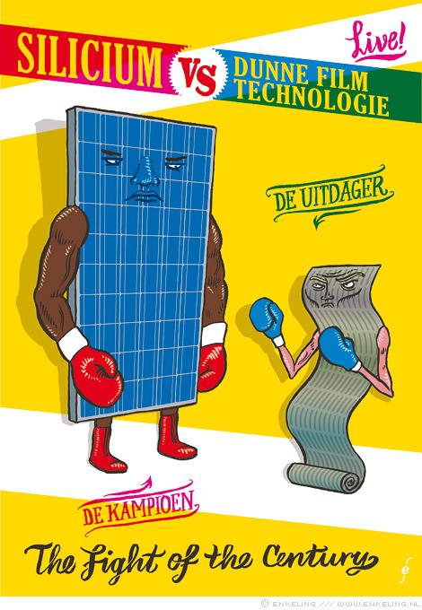 VV+, silicium, dunne film technologie, thin film technology, solar energy, solar panels, illustration, Enkeling, 2013