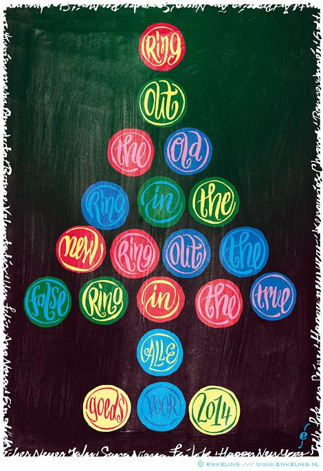 gelukkig, nieuwjaar, wensen, wishes, christmas tree, bit late, sorry, Enkeling, 2014