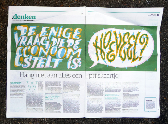 typography, typographic, illustration, typografische, illustratie, nrc.next, Enkeling, 2014