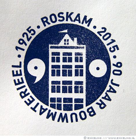 Roskam, stamp, Amsterdam, Hilversum, Rozenburg, Enkeling, 2015