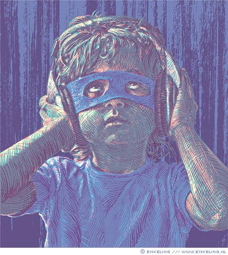 Muziekpiraten,illegaal downloaden, cd, ondergang, illustratie, NRC Handelsblad, Enkeling, 2015