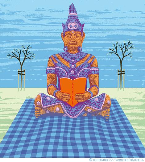 Boeddhisme voor Nederlanders, buddhism, illustration, NRC Handelsblad, Enkeling, 2016