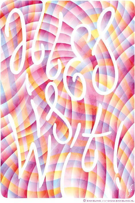 Svea Veenstra, Alles is wit, eerste zin, de liefste, typography, lettering, hand drawn, Enkeling, 2017
