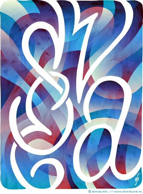 Svea Veenstra, de liefste, typography, lettering, hand drawn, Enkeling, 2017
