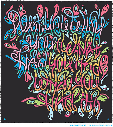 Don't You Wish You Had (What You Had When You Had It), Ruth Copeland, Funkadelic, Funk, typography, lettering, calligraphy, Enkeling, 2018
