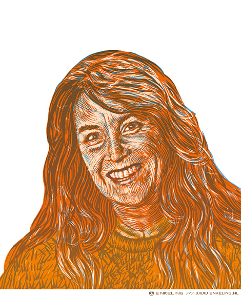 Marjolijn van Heemstra, portrait, illustration, portraiture, handdrawn, Enkeling, 2019