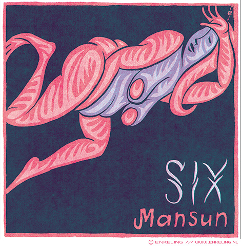 Mansun, Six, album cover, artwork, illustration, typography, handdrawn, Enkeling, 2019